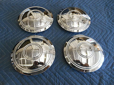 Set Of 4 Chevy Rally Wheel Police Taxi Smoothy Center Caps Vette,camaro ,tri 5