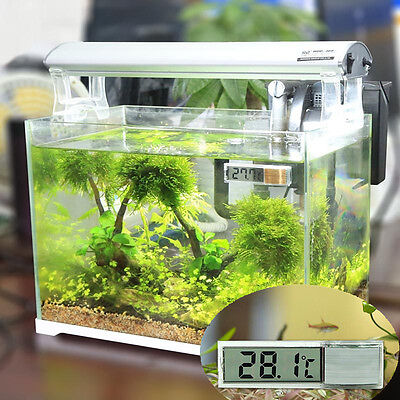 Digital Fish LCD Tank Aquarium Temperature Thermometer Water Marine Terrarium