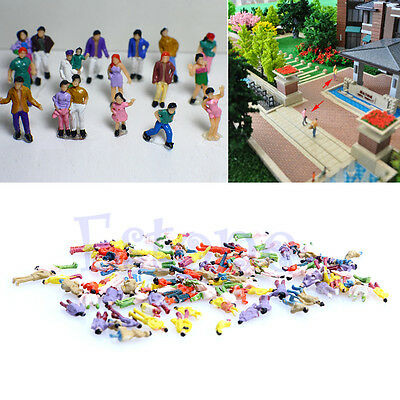 Newest 100x 1:150 Building Layout Model People HO Scale Painted Figure Passenger