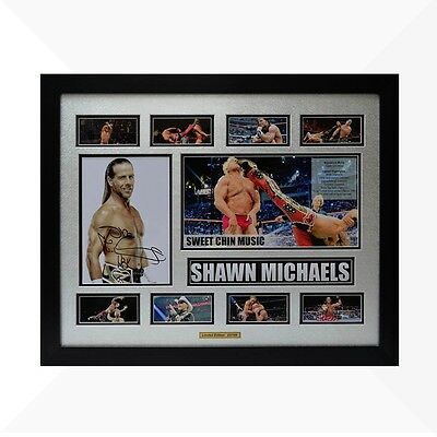 Shawn Michaels WWE Signed & Framed Memorabilia - Silver/Black Limited Edition