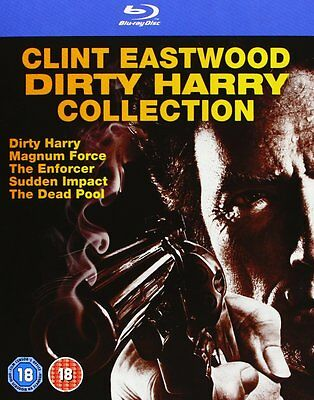 Dirty Harry 1-5 Collection Clint Eastwood Uncut Blu-Ray Deutsch Neu Ovp