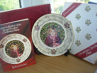 Royal Doulton Christmas Carols Plate 1983 Silent Night Boxed With Certificate 1