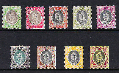 Southern Nigeria 1901-02 Complete Set Sg 1-9 Fine Used.