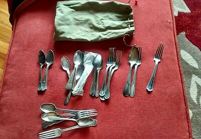 Lot VTG Mixed Flatware Silverplate Wm Rogers ,holmes & edwards ,reed & barton ++