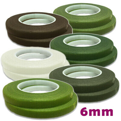 Florist Stem Tape 6mm -DOUBLE ROLL- HAMILWORTH Cake Flower Wedding, Floral Craft