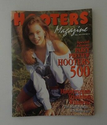 Hooters Magazine Fall 1993 #12 Previews Hooters 500 Nascar Race