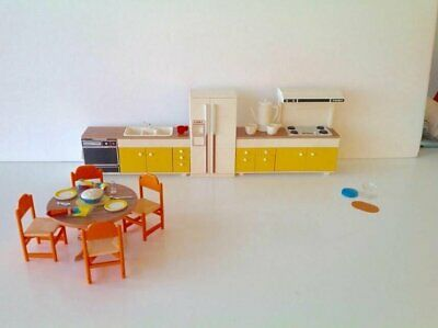 Tomy Vintage Smaller Homes Dollhouse Furniture for Kitchen Mid Century Modern