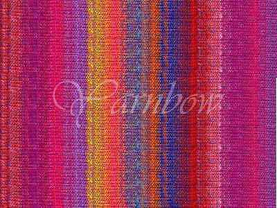 NORO 100/% wool yarn Orange-Pink-Violet-Brown-White :Kureopatora #1011: