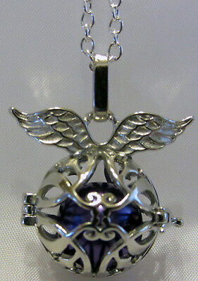 Chakra Necklace - Silver Locket With Wings