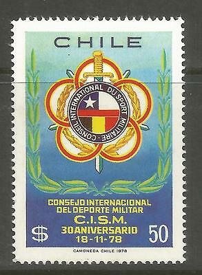 CHILE. 1978. Military Sports Commemorative. SG: 809. Mint Never Hinged.