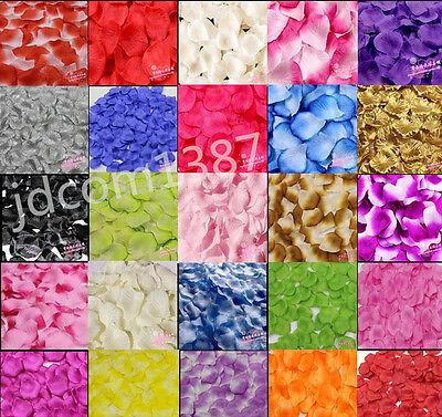 1000pcs Atificial Flower Silk Rose Petals Wedding Party Decorations