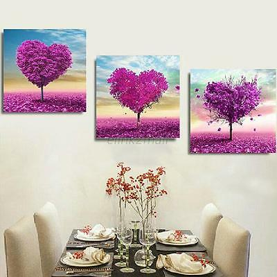 5D Heart Tree Landscapes Embroidery Diamond Painting Cross Stitch Kit Home Decor