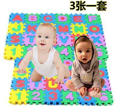 Hot Alphabet & Numerals Baby Kids Play Mat Educational Toy Soft Foam Mats 36pcs