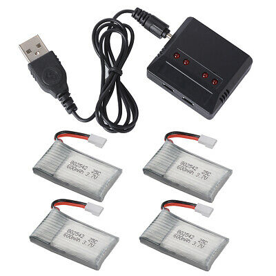 Charger+ 3.7V 25C 500/600/700mAh Lipo Battery for Syma X5C F5C RC Helicopter