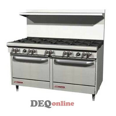 """Southbend S60DD 60"""" Gas Range W/10 Burners And 2 Standard Ovens"""