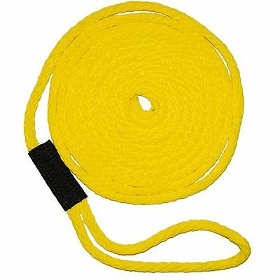 "Soft Lines 2201-2 Yellow Boat Mooring Dock Line Yellow 1/2"" 20'"