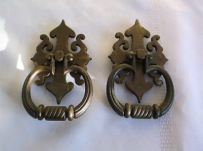 Large Vintage Cast Metal  Drawer Door Pulls