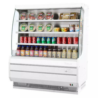 Turbo Air TOM-50M Vertical Open Display Case Cooler Medium Height in White