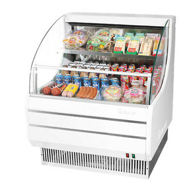 Turbo Air TOM-30L Open Display Case Cooler Low Profile in White