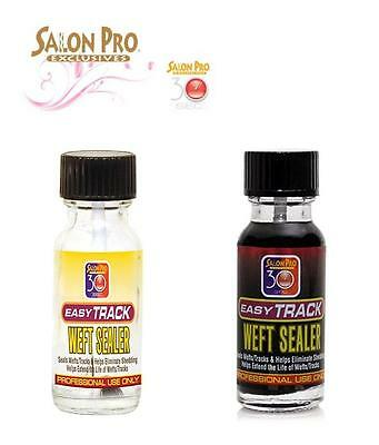 SALON PRO EASY TRACK WEFT SEALER HAIR EXTENSION WEFT SEALER 0.5OZ 15ml