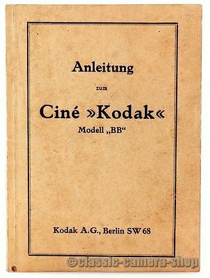 Bedienungsanleitung CINE KODAK Modell BB Filmkamera MOVIE CAMERA manual (X2523