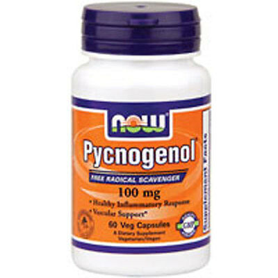 Pycnogenol 60 vcaps 100 mg by Now Foods