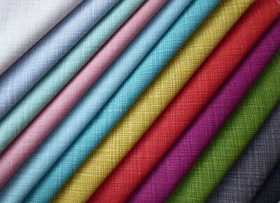 Makower Linea 100% Cotton Fabric. Patchwork, Quilting, Sewing, Crafts, Texture