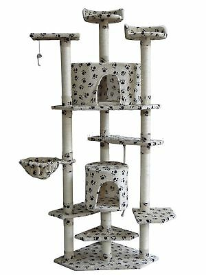 FoxHunter Kitten Cat Tree Scratching Post Sisal Toy Activity Centre BWP CAT092
