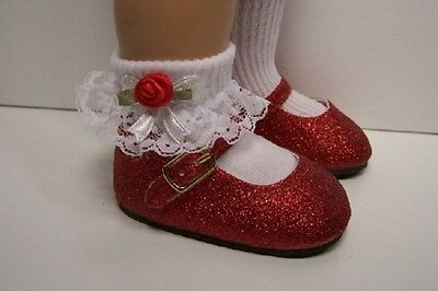 RED Basic Glitter Doll Shoes For Chatty Cathy (Debs)