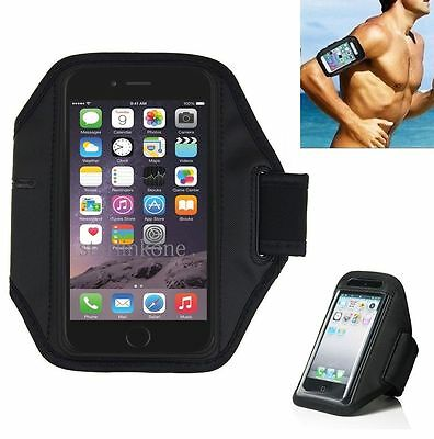 Black Neoprene Sports Running Armband Case w/KeyPouch for iPhone 6/6S
