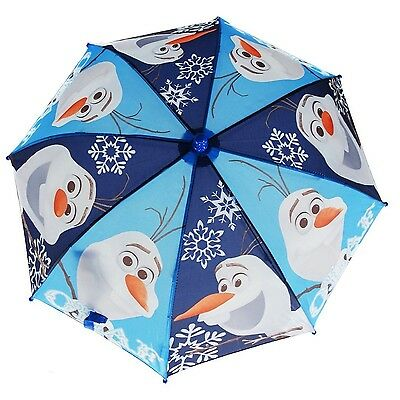 New Disney Frozen Olaf the Snowman Molded Handle Umbrella for Kids