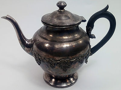 Vintage Tea and Coffee Pot Silver Plate on Copper WM Rogers Hamilton Ontario 42