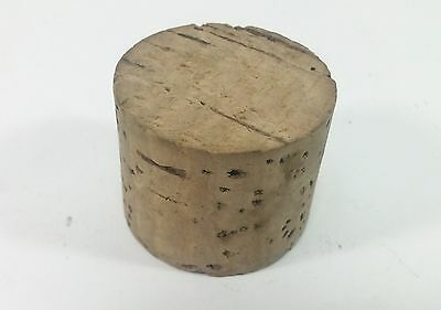 """Non-Tapered Cork Plug, Round Push-In Bung, 1-1/2"""" x 1-1/2"""" x 1-3/16"""