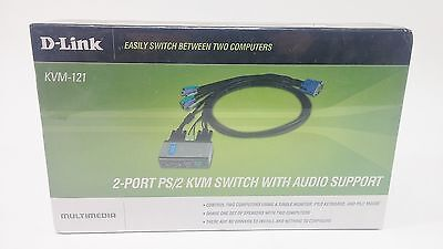 D-Link 2-Port PS/2 KVM Switch with Audio Control 2 Computers with Single Monitor