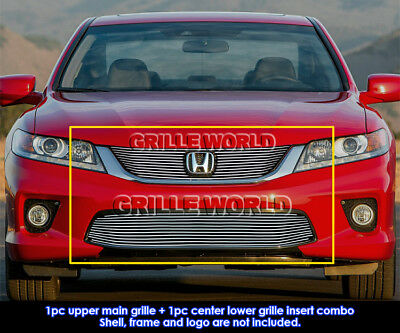 For 2013-2015 Honda Accord Coupe Billet Grill Insert Combo