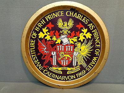 Collector Serving Tray Prince Charles As Prince Of Wales 1969