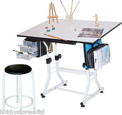 A1 Drawing Board & Stool Adjustable Technical Drawing Board Artist Table Easel