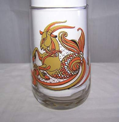 Vintage 1976 Capricorn Arby's Zodiac Drinking Glass Tumbler Cup Mint Condition