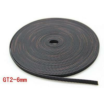 5M RepRap GT2 Timing Belt 6mm wide 2mm pitch 2GT for 3D Printer Prusa Mendel 1m