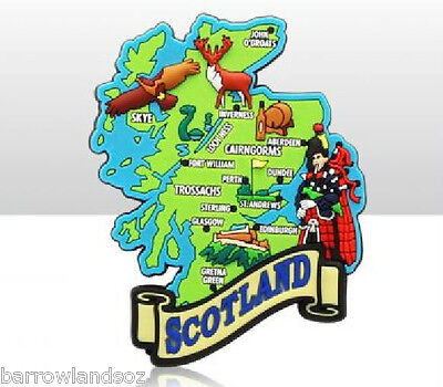 Fridge Magnet - Map of Scotland with Piper - Great Gift - SCOTLAND Souvenirs
