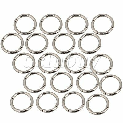 20pcs 25mm Metal O-Ring O Ring Non Welded Nickel Plated For Purse Making Craft