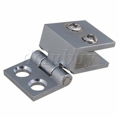 Wall to Glass Clamp Clip Hinge For Bathroom Glass Door 90 Degree Angle