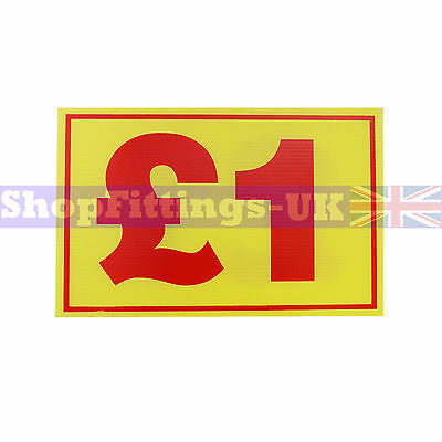 £1 Market Trader Correx Price Card Sign Board for Retail display,Market Stalls