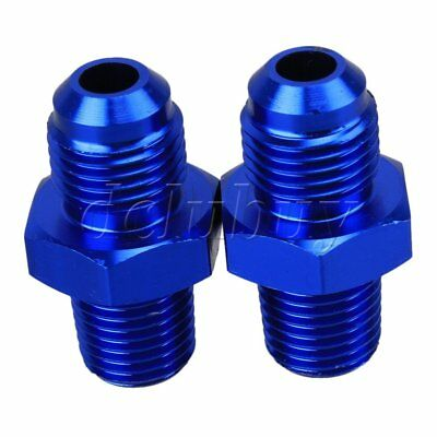 """2pcs AN6 Male to Male 1/4"""" NPT Straight Flare to Fuel Oil Thread Fitting"""