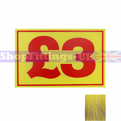 £3 Market Trader Correx Price Card Sign Board for Retail display,Market Stalls