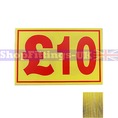£10 Market Trader Correx Price Card Sign Board for Retail display,Market Stalls