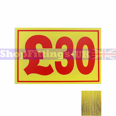 £30 Market Trader Correx Price Card Sign Board for Retail display,Market Stalls