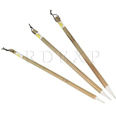 3 Pieces Chinese Calligraphy Japanese Brush Goat Hair Writing Painting Tools