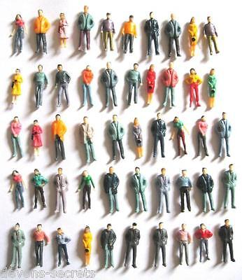 25/200 wholesale scale new model railway train people figures HO gauge 19mm