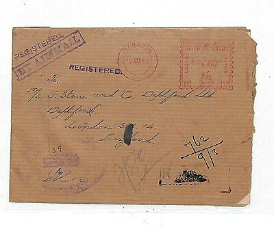 EE193 1966 Rangoon Burma to GB Registered/